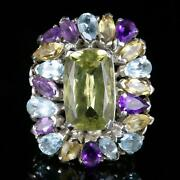 Antique Victorian Large Gemstone Ring Over 25cts Of Gemstones