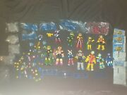 Collection Of X12 Mega Man Figures + Accessories Mattel 5 Inch 6.5 Inch Rare