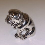 Large Alfred Dunhill .925 Ad Filled Solid Silver Bulldog Paperweight Bull-dog