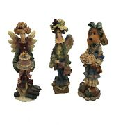 Boyd's Bears And Friends Folkstone Collection Lot Of 3 Figurines