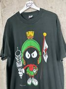 Vintage 1990 Marvin The Martian Loony Tunes Tv Promo Tee Shirt Size Xl
