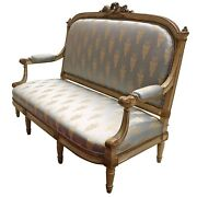 Antique French Love Seat Settee Parlour Sofa
