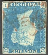 Sg5 2d Blue Qv Pl1 Very Scarce Watermark Inverted 4 Margin Cat Andpound6000