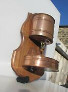Antique French Copper Wall Trough Water Tank Lavabo Basin Planter Bird Vintage
