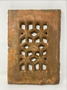 1700and039s Ancient Rare Stone Hand Carved Jali Cut Islamic Mosque Window Jali Panel