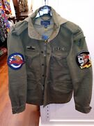 Polo Big And Tall Military Paratrooper And Flight Patch Army Jacket