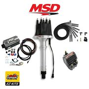 Msd Complete Black Ignition Kit - Digital 6al/distributor/wires/coil Bbc Chevy