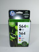 Hp 564xl Black And 564 Color Ink Set Genuine New Combo Pack Expired October 2018