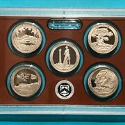 2013 S America The Beautiful Proof Quarters Set 5 Coins Atb