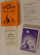 Halloween Gypsy Witch Fortune Telling Playing Cards Tarrot Mystic Teller Vintage