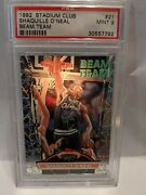 1992 Shaquille Oandrsquoneal Topps Stadium Club Beam Team 21 Psa 9 Read Ck Feed-backs