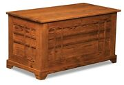 Amish Storage Cedar Chest Blanket Box Trunk Wooden Red Oak Wood Bedroom Clothes