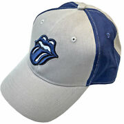 The Rolling Stones One Size Fits All Blue And Light Gray With Blue Logo