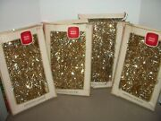 Lot Of 4 Boxes Of Vintage Shiny Brite Gold Tinsel Christmas Garland15 Ft Each