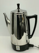 Vintage Presto Stainless Steel Percolator 2-12 Cups W/cord 0281104 Shipping