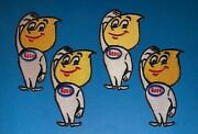 4 Lot Esso Gas Oil Nascar Racing Sponsor Hipster Jacket Racing Gear Patches 203w