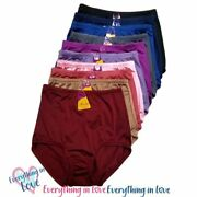 4 8 Pack Plus Women High Waist Light Tummy Control Full Coverage Smooth Brief
