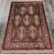 Yilong 4and039x6and039 Handmade Silk Carpet Home Indoor Unique Pattern Area Rug Z109a