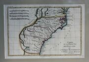 Framed Original Antique Map Of The Southern United States By R. Bonne 1780