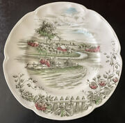 Johnson Brothers China Dinner Plate Andldquothe Road Homeandrdquo Made In England Excellent