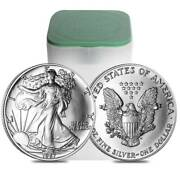 1987 American Silver Eagle Rolls / 20 Troy Ounces / .999 Pure / 2nd Year / Unc