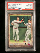 2015 Topps Update Throwback Variation Sp 300 Mike Trout Psa 10 Gem Mint Rare