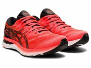 Asics Gel-nimbus 23 Tokyo Mens Running Sports Shoes Trainers Lace Up Red Black