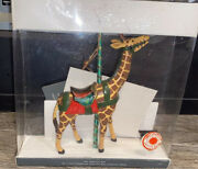 Kurt Adler Giraffe Carousel Ornament Smithsonian Collection Vintage With Papers