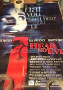 What You Canand039t Hear Could Kill U Promo Poster Excellent See Pics For Any Damage