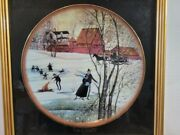 P. Buckley Moss Prairie Winter Framed Collectors Plate Limited Edition