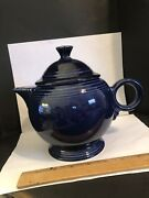 New W Tags Fiestaware Colbalt Blue Large 44oz Fiesta Teapot With Lid Made In Wv