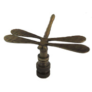 Dragonfly Lamp Shade Finial Antique Brass 8