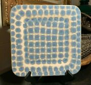 Good Earth Pottery Richie Watts 11 1/4 Square Tray Concentric Shape Design Mint