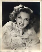 Judy Garland Autographed Signed Original Rare Early Photo 1943 - 10x8