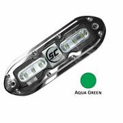 Shadow-caster Scm-6 Led Underwater Light W/20' Cable 316 Ss Housing Aqua Gree...