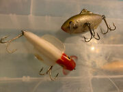 Two Unknown Vintage Fishing Lures Odd Look