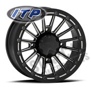 Itp Sd Bl Wheel 15x7 Blk Milled 5+2 Kvf750 Brute Force 4x4i Eps Irs 2013-2018