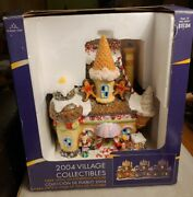 New Holiday Time 2004 Village Collectibles Fiber Optic Gingerbread House 663240