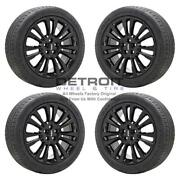 19 Lincoln Continental Gloss Black Wheels Rims And Tires Oem Set 4 2017-2020...
