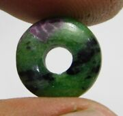Natural Ruby Zoisite Big Hole Donut Bead Pendant Beads 12mm-25mm 2 Piece Db-122