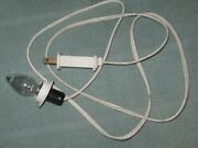 Christmas Blow Mold Light Cord W. Bulb 4 Ft. Old Style Clip Fused