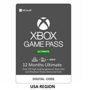 Usa Region - 12 Months Xbox Game Pass Ultimate + Live Gold And Game Pass