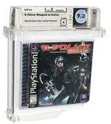 G-police Weapons Of Justice - Wata 9.8 A Sealed [sony Security Label] Ps1 1999