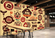 3d Barbecue Beef 10152na Wallpaper Wall Mural Removable Self-adhesive Fay