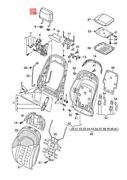 Genuine Audi A8 Head Restr. With Cover Leath Satin Beige 4h0881901drbk4