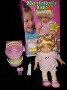 Vtg Magic Potty Baby 1992 Tyco Doll With Potty Chair Works Training Toy With Box