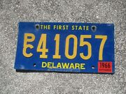 Delaware 1966 Riveted Numbers Pc License Plate 41057
