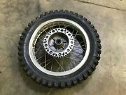 18 Rear Wheel Assembly Greeves Tyran Akront Rim Dented