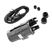 2fastmoto Universal Chrome 12 Volt 3.9 Ohms Dual Lead Ignition Coil With Wires