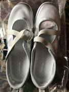 Brand New Womens Size 8 Ww Lands' End Mary Jane Mesh Water Shoes Gray 8ww